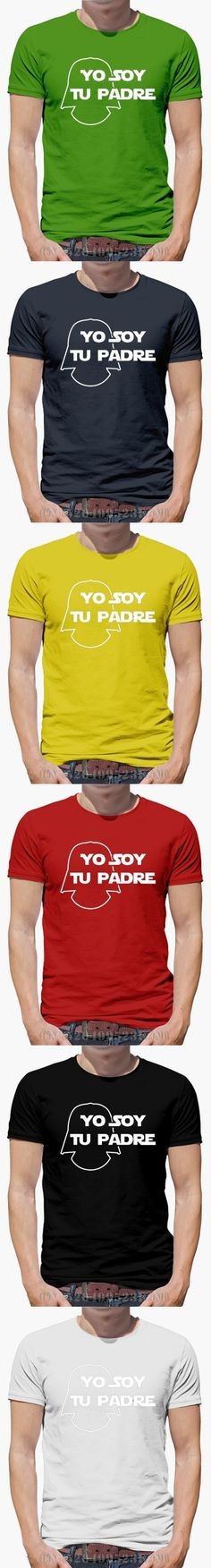 Spring New Arrivals men t shirts Yo soy tu padre Short Casual Knitted anime S-XXXL