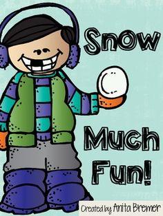 FREEBIE! Snow Much Fun! {Snowy Themed Literacy Activities}