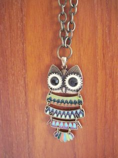 Owl Necklace by 3LoveDesigns on Etsy, $35.00