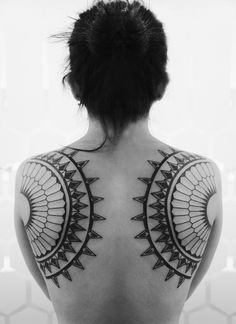 Symmetrical Back Tattoo. Would be a very unique mastectomy tattoo. [p-ink.org]