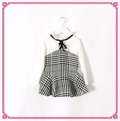 2015 Babies Girls Grid Patchwork Cute Ruffled Dresses Kid Girl Long Sleeve Frilled Neckline Casual Dress Princess Party Dress Online with $8.67/Piece on Smartmart's Store | DHgate.com