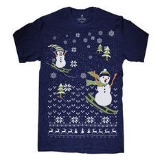 Scary Snowman Tee Unisex Navy, $12, now featured on Fab.