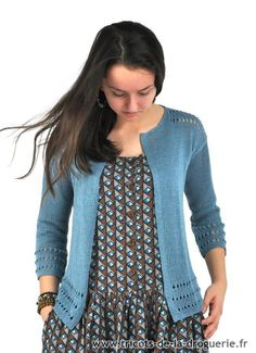 Tricots de la Droguerie - On tricote du Lin avec ELLE et La Droguerie