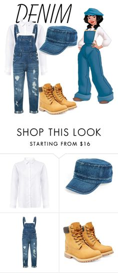 """""""Denim On Denim"""" by watsonsheep ❤ liked on Polyvore featuring Amici Accessories, Guild Prime, Timberland and Denimondenim"""