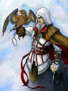 Edit: I was just ogling my own picture, and just noticed how nice it scanned.XD Ezio is (c) to Ubisoft. Art is (c) to. Assassins Creed Art, Video Game, Deviantart, Assassin's Creed, Sorting, Audi, Pictures, Fandoms, Fictional Characters