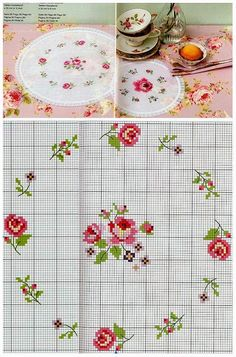 Lovely heart things: Cross Stitch: Delicate roses in style Shabby chic (collection schemes) Cross Stitch Boards, Cross Stitch Love, Cross Stitch Flowers, Cross Stitch Designs, Cross Stitch Patterns, Diy Embroidery, Cross Stitch Embroidery, Embroidery Patterns, Cross Stitching