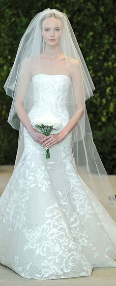 """Astrid"" Bridal Spring 2014 #strapless #carolinaherrera #weddingdress"