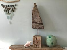 Driftwood Sculpture 2 | Etsy Driftwood Chandelier, Driftwood Sculpture, Seashell Garland, Cornish Beaches, Driftwood Furniture, What To Make, Glass Design, Fairy Lights, Create