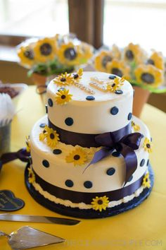 Sunflower Bridal Shower – The Culinary Couple Sunflower Birthday Parties, Sunflower Party, Sunflower Cakes, Sunflower Baby Showers, Sunflower Colors, Wedding Shower Cakes, Baby Shower Cakes, Celebration Cakes, Amazing Cakes