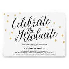 Confetti Grad | Graduation Invitation 50% off All Cards, Labels & Stickers -- Announce Your Grad with Style!     Use Code: ANNOUNCEGRAD