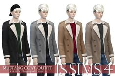JS Sims 4: Mustang Coat Outfit • Sims 4 Downloads