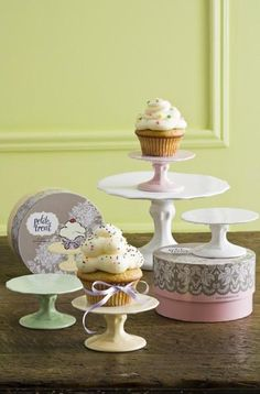 individual cupcake stands. Would be cute for the birthday girl!