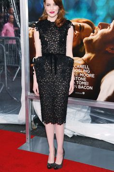 Emma Stone. 2011. Dress by Tom Ford; shoes by Christian Louboutin; clutch by Salvatore Ferragamo; jewelry by Fred Leighton - The Cut