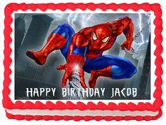 SPIDERMAN Birthday Edible image Cake topper #KopykakeSheets