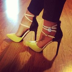 Gorgeous #yellow #Stiletto heels. A stunning #fashion statement for any woman!