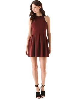T by Alexander Wang oxblood dress. This is everything. And then some. $325.