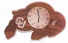 UC Boulder clock in mahogany wood