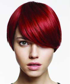 Short red bob by Farouk via ukhairdressers.com  Going to to my hair this colour soon! And love the cut if I ever go short again.