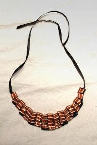 The hardware store can be a great place to find inspiration for DIY jewelry making. Need proof? Look no further than this Hardware Store Rose Gold Necklace.