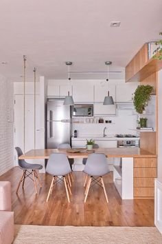 most popular small kitchen design ideas to save space your home page 20 Kitchen Room Design, Home Decor Kitchen, Interior Design Kitchen, Home Kitchens, Decorating Kitchen, Kitchen Tips, Kitchen Ideas, Small Apartment Kitchen, Kitchen Living
