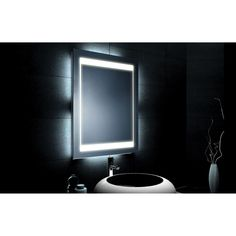 Mercury 700mm x 450mm Illuminated Bathroom Mirror