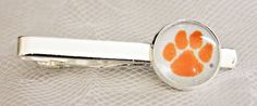 Clemson Tigers Tie Clip Made From Football Trading Cards, Upcycled From Cards #ClemsonUniversity