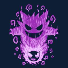 The Menacing Ghost Within Anime & Manga Poster Print Pokemon Fire Red, Ghost Pokemon, All Pokemon, Groudon Pokemon, Telephone Drawing, Pokemon Tattoo, Gengar Tattoo, Pokemon Pictures, Animes Wallpapers