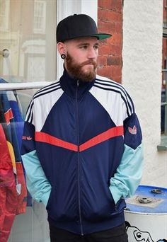 Vintage Retro Adidas Zip Up Jacket 3220