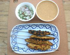 Authentic Thai recipe for Chicken Satay, 'Satay Gai' from ImportFood.com.