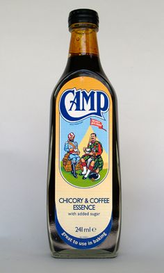Camp Coffee is a black, concentrated coffee-flavoured syrup sold in the UK and in Canada.