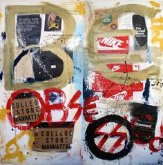 Painting :  BE OBSESSED, 2014 of Massimo Divenuto, 200cmX200cm