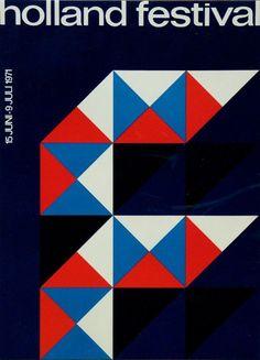 Holland #Festival poster by Dick Elffers (1971). @thebigfeastival   via…