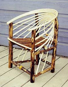 Bentwood dining chair peeled