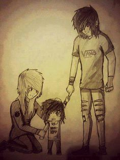 someone who does the emo hair right Emo Love, Cartoon Drawings, Cute Drawings, Amor Emo, Couple Drawings Tumblr, Emo Cartoons, Goth Art, Emo Scene, Cute Family