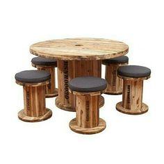 Table stools spools