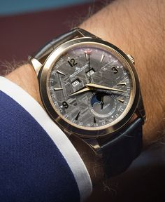 Jaeger-LeCoultre Master Calendar Meteorite http://timeandtidewatches.com/hands-on-the-jaeger-lecoultre-master-calendar-meteorite/
