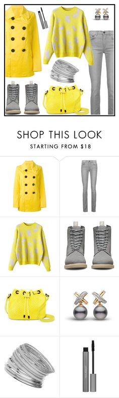 """""""WINTER TODAY YELLOW & GREY"""" by tlb0318 ❤ liked on Polyvore featuring Dsquared2, Proenza Schouler, Dr. Martens, Poverty Flats and Miss Selfridge"""