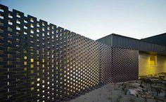Kerstin Thompson Architects: Carrum Downs Police Station, hit & miss brickwork