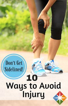 Want to run without injury? Try these 10 tips to keep you injury-free when you're running or walking a race!