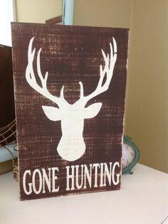 Gone Hunting Custom Wood Sign on Etsy, $43.00