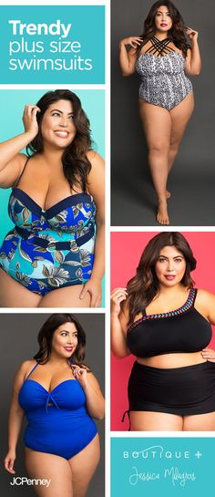 ee0a195d8a95f You guys, the new Boutique+ swimwear collaboration with Jessica Milagros is  hot—summertime hot. These plus size swimsuits are fashionable and  flattering.