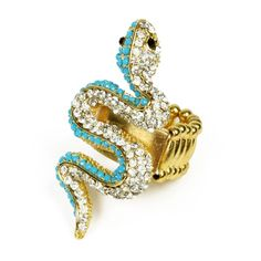 Medusa Snake anello stretch