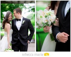 Bride and Groom #Bouquet #White #Wedding Photo by @Rebecca Marie
