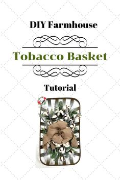 Want to learn to make this rustic farmhouse tobacco basket from start to finish? I even give you a list of supplies! Want to learn to make this rustic farmhouse tobacco basket from start to finish? I even give you a list of supplies! Christmas Baskets, Christmas Porch, Christmas Bows, Christmas Decor, Home Decor Baskets, Basket Decoration, Shabby Chic Interiors, Shabby Chic Decor, Tobacco Basket Decor