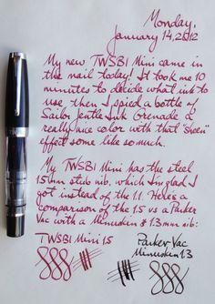 Twsbi Mini 1.5 A Mini Pictorial Review
