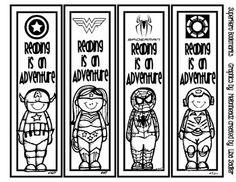 Super Kids Themed - Grade Level Bookmarks - 8 Designs from Superhero Books, Superhero Classroom Theme, Superhero Characters, Classroom Themes, Classroom Contract, Reading Bookmarks, Cute Bookmarks, Bookmarks To Color, Superhero Coloring