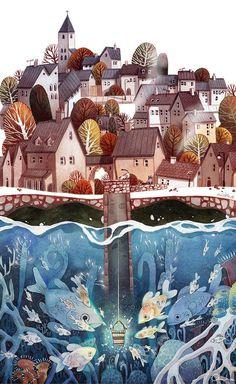 Illustration by Ira Sluyterman van Langeweyde, Illustrator and Character Designer from Munich. Art And Illustration, Illustrations And Posters, Watercolor Illustration Children, Watercolor Artists, Watercolour Painting, Amazing Art, Awesome, Painting & Drawing, Illustrators