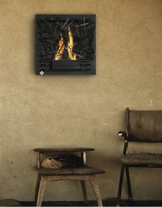 outdoor wall mounted fireplace -- Curated by: Ductworks Heating and Air Conditioning 104 - 2955 Acland road Kelowna bc v1x 7x2 250-765-8854