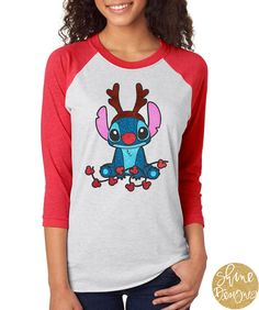 Stitch Christmas Shirt  Lilo and Stitch Shirt  by ShineDesignsTees