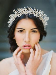 Bridal Crown Crystal Astilbe Flower Crown от MelindaRoseDesign